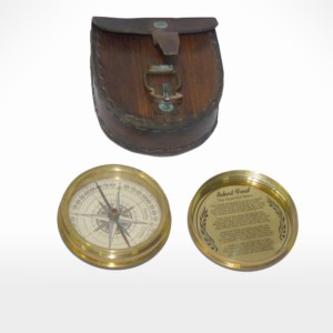 Compass with Leather Case by Noah's Ark Exports