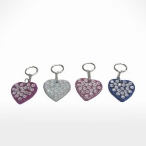 Heart Key Ring S/4 by Noah's Ark Exports