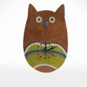 Owl Design Clock  by Noah's Ark