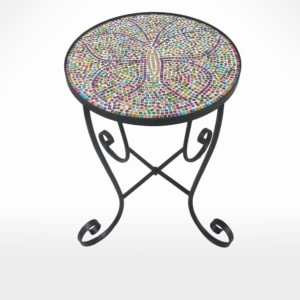 Table with Glass Mosaic Top  by Noah's Ark