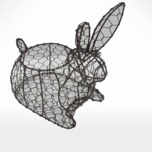 Rabbit Basket by Noah's Ark Exports